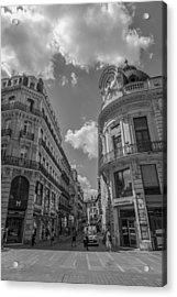 Toulouse Cityscape In Mono Acrylic Print