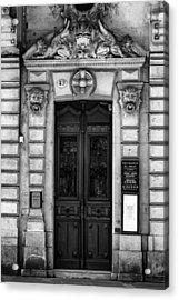 Toulouse Door In Mono Acrylic Print