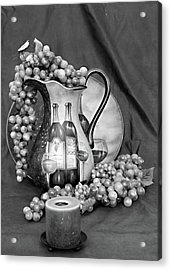 Acrylic Print featuring the photograph Tour Of Italy In Black And White by Sherry Hallemeier