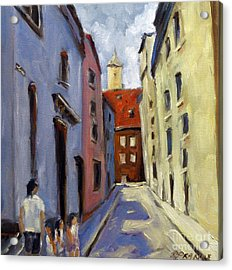 Tour Of The Old Town Acrylic Print by Richard T Pranke