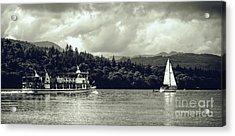 Touring The Lakes In Sepia Acrylic Print