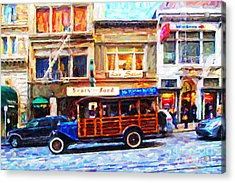 Touring The Streets Of San Francisco . Photo Artwork Acrylic Print by Wingsdomain Art and Photography