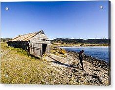 Tourist In East Coast Tasmania Acrylic Print