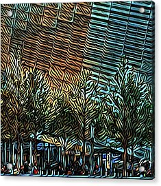 Tourists Take Selfies At The Acrylic Print by Gina Callaghan
