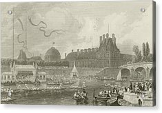 Tournay On The Seine During The July Fetes Acrylic Print by Eugene-Louis Lami