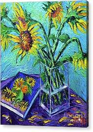 Tournesols Pour Vincent Acrylic Print by Mona Edulesco