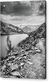 Acrylic Print featuring the photograph Towards The Silver Divide by Alexander Kunz