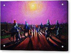 Towards Zaria Acrylic Print by Aderonke ADETUNJI
