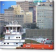 Towboat Robt G Stone At Memphis Tn Acrylic Print