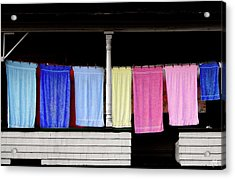 Acrylic Print featuring the photograph Towel Line Stark New Hampshire by Wayne King