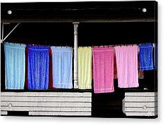 Towel Line Stark New Hampshire Acrylic Print