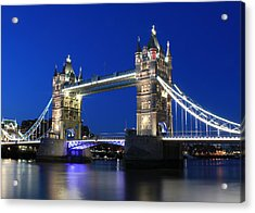 Tower Bridge At Night Acrylic Print