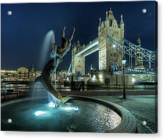 Tower Bridge In London Acrylic Print by Vulture Labs