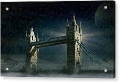 Tower Bridge In Moonlight Acrylic Print