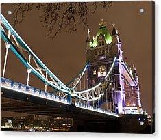 Tower Bridge Lights Acrylic Print by Rae Tucker