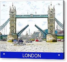 Tower Bridge London England Acrylic Print