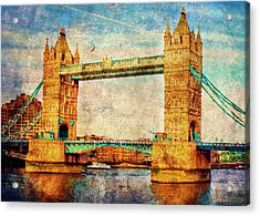 Tower Bridge London Acrylic Print by Judi Saunders