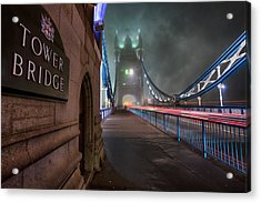 Tower Bridge Acrylic Print by Thomas Zimmerman