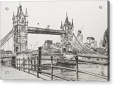 Tower Bridge Acrylic Print by Vincent Alexander Booth