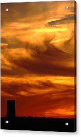 Tower In Sunset Acrylic Print