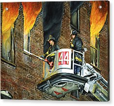 Tower Ladder 44-south Bronx Acrylic Print by Paul Walsh