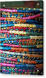 Acrylic Print featuring the photograph Tower Of Baskets by Gwyn Newcombe