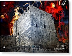 Tower Of David Design Acrylic Print by John Rizzuto
