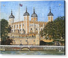 Tower Of London Acrylic Print by Carol Williams