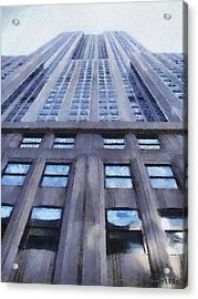 Tower Of Steel And Stone Acrylic Print by Jeff Kolker