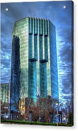 Tower Place Dawn Buckhead Atlanta Office Tower Art Acrylic Print by Reid Callaway