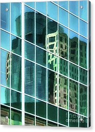 Tower Reflections # 3 Acrylic Print by Mel Steinhauer