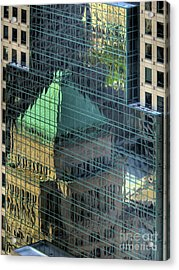 Tower Reflections Acrylic Print by Mel Steinhauer