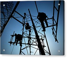 Tower Tech Acrylic Print by Robert Geary