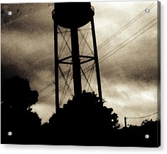 Tower With Intersecting Lines II Acrylic Print by Stephen Hawks