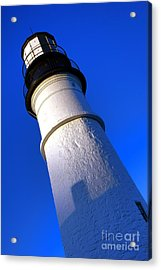Acrylic Print featuring the photograph Towering Portland Head Light by Olivier Le Queinec