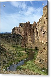 Towering Smith Rocks Acrylic Print