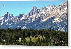 Towering Teton Range  Acrylic Print