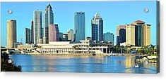 Acrylic Print featuring the photograph Towers By The Bay by Frozen in Time Fine Art Photography