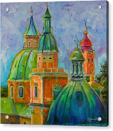 Towers Of Salzburg Acrylic Print by Chris Brandley