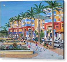 Town Center Abacoa Jupiter Acrylic Print by Marilyn Dunlap