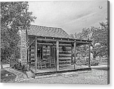 Town Creek Log Cabin Acrylic Print