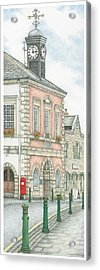 Town Hall Clock Garstang Lancashire Acrylic Print