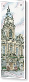 Town Hall Clock Kendal Cumbria Acrylic Print by Sandra Moore