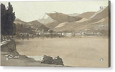 Town Of Lugano, Switzerland, 1781  Acrylic Print by Francis Towne