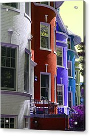 Townhouse Row 2 Acrylic Print by Sean Owens