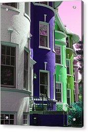 Townhouse Row 4 Acrylic Print by Sean Owens