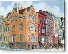 Townhouses Acrylic Print by David Hinchen