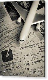 Toy Airplane II Acrylic Print by Edward Fielding