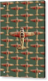 Toy Airplane Scrapper Pattern Acrylic Print by YoPedro