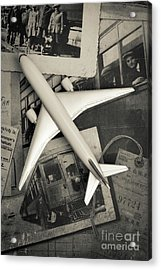 Toy Airplane Vintage Travel Acrylic Print by Edward Fielding